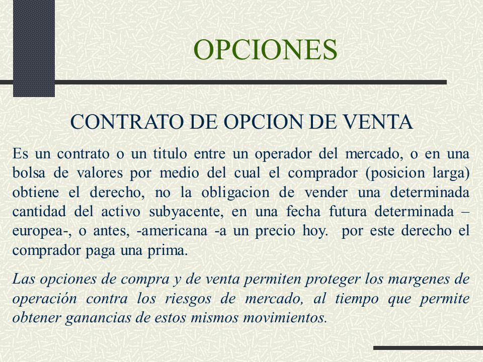 CONTRATO DE OPCION DE VENTA