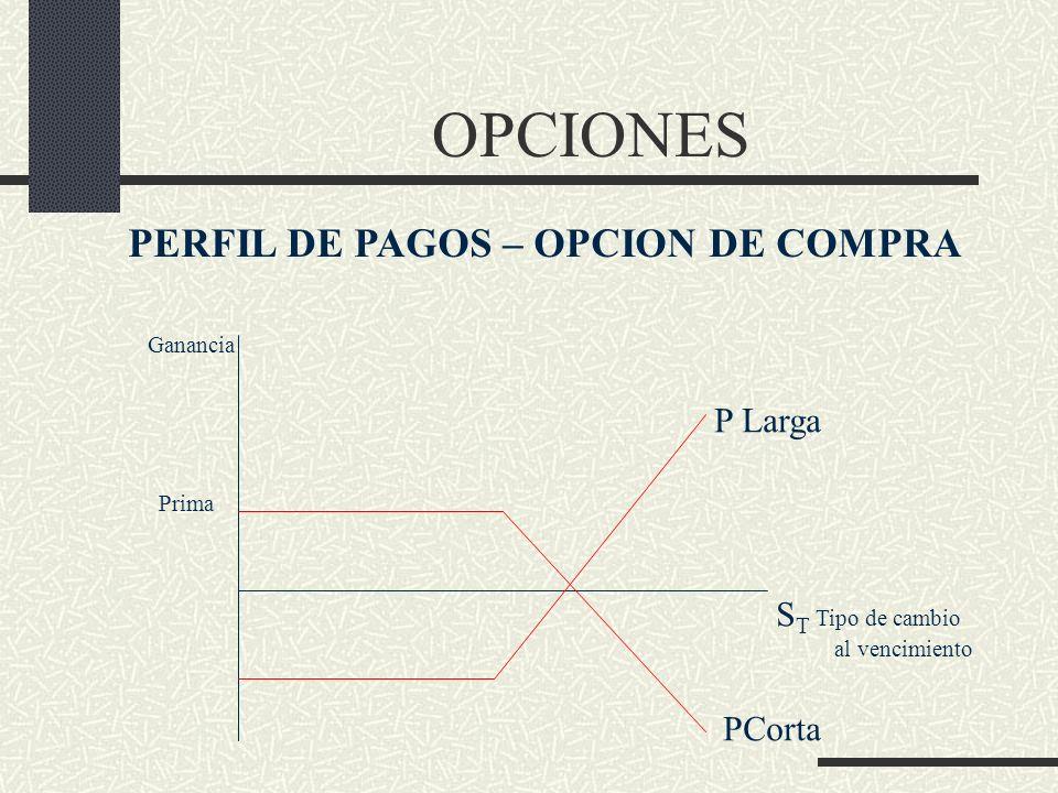 PERFIL DE PAGOS – OPCION DE COMPRA