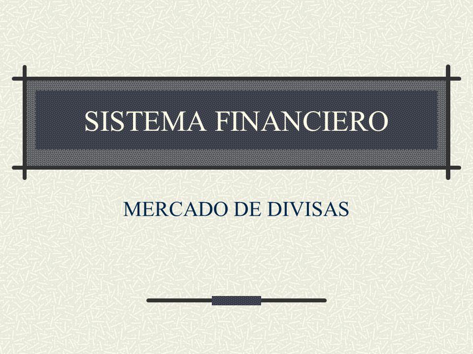 SISTEMA FINANCIERO MERCADO DE DIVISAS