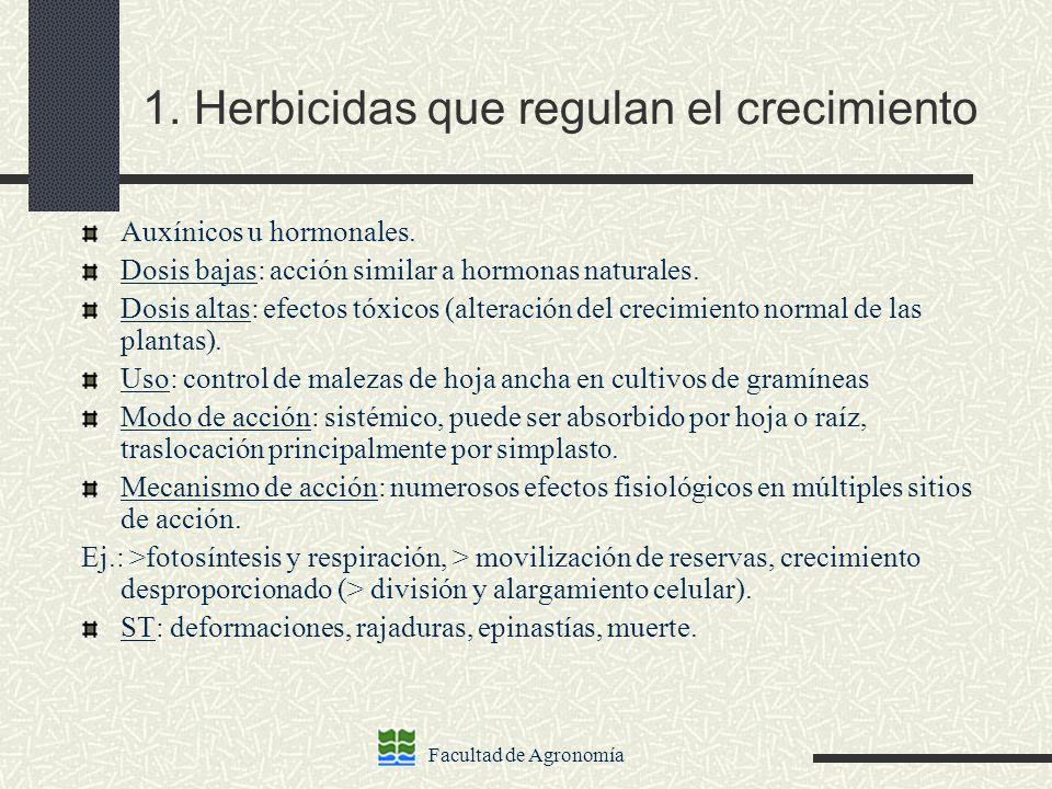 1. Herbicidas que regulan el crecimiento