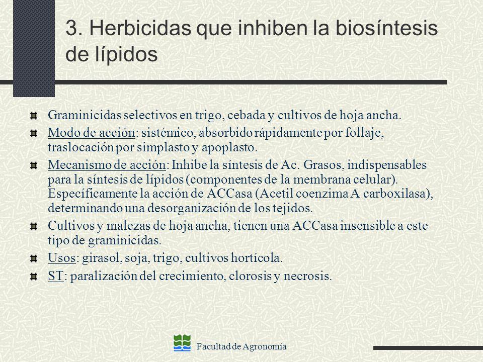3. Herbicidas que inhiben la biosíntesis de lípidos