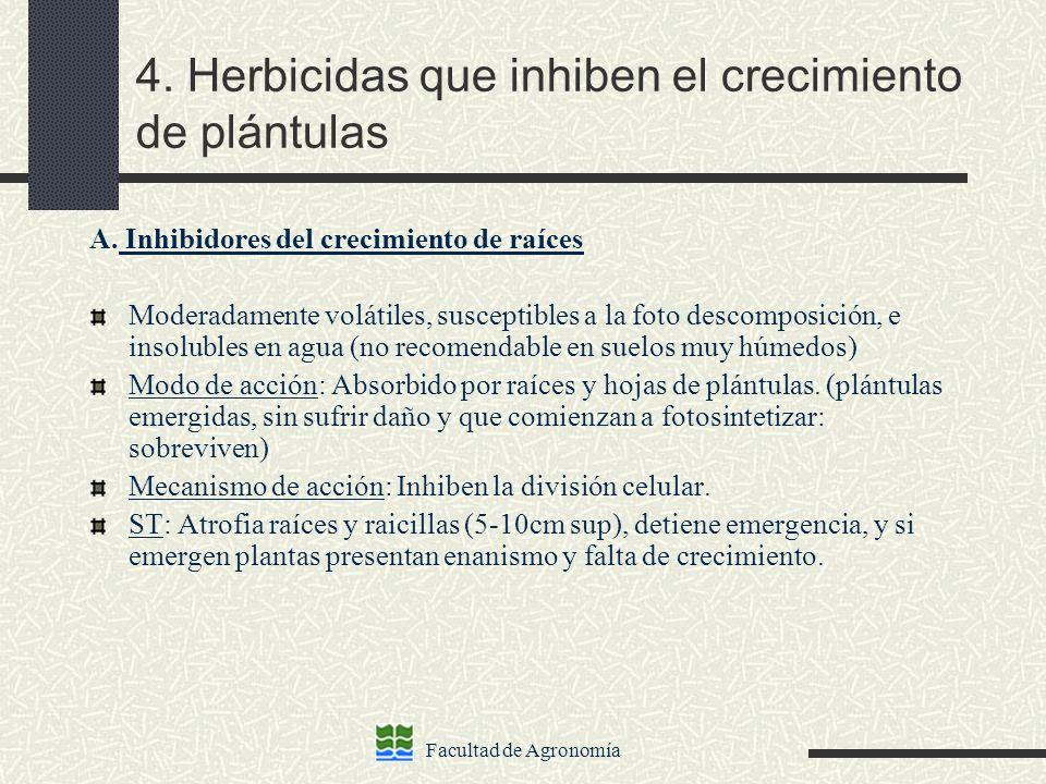 4. Herbicidas que inhiben el crecimiento de plántulas