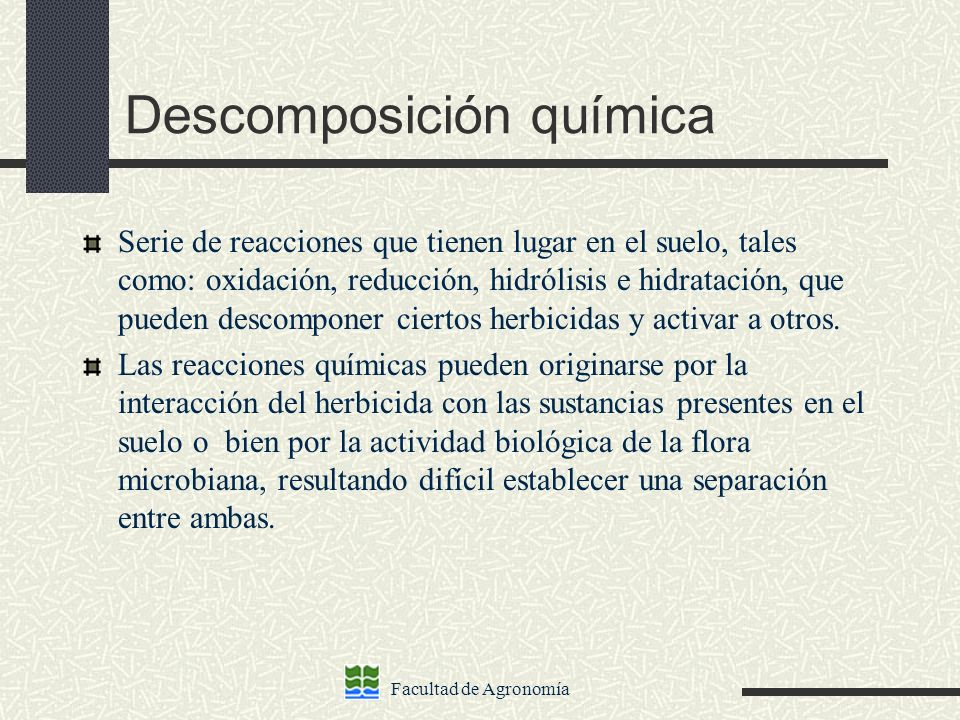Descomposición química