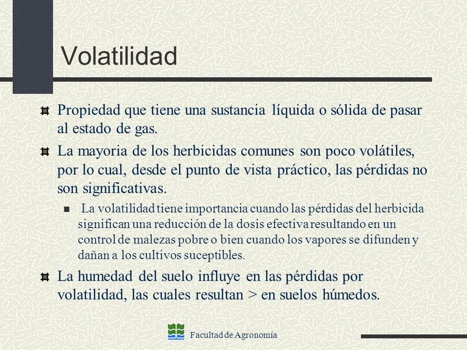 Volatilidad Propiedad que tiene una sustancia líquida o sólida de pasar al estado de gas.