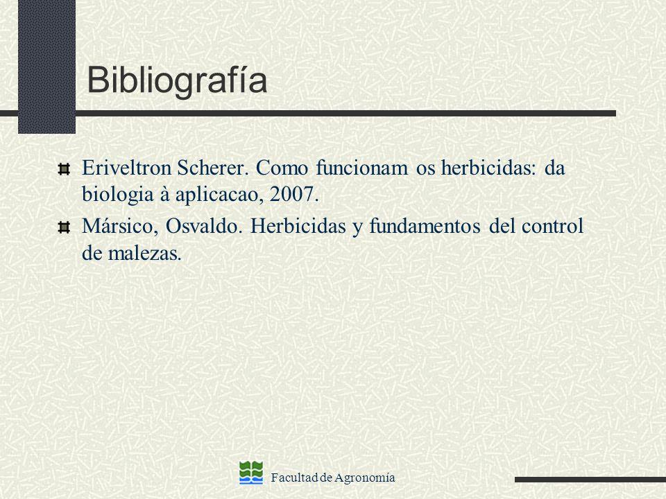 Bibliografía Eriveltron Scherer. Como funcionam os herbicidas: da biologia à aplicacao, 2007.