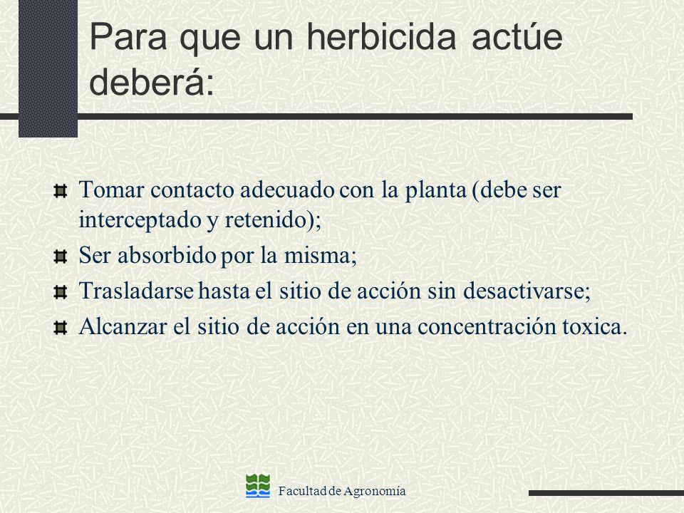 Para que un herbicida actúe deberá:
