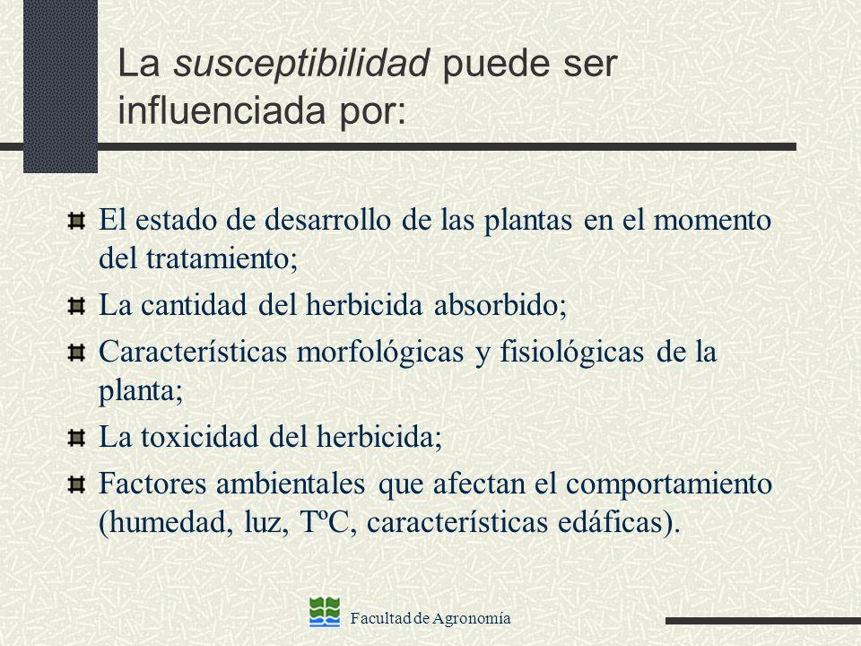 La susceptibilidad puede ser influenciada por: