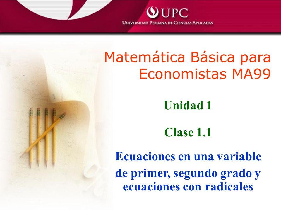 Matemática Básica para Economistas MA99