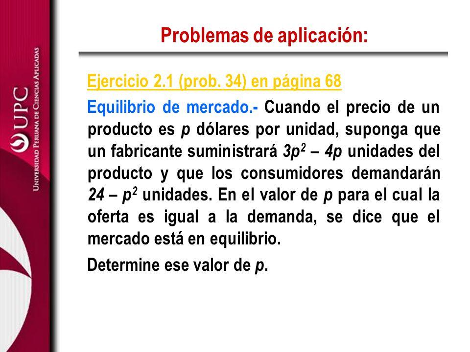 Problemas de aplicación: