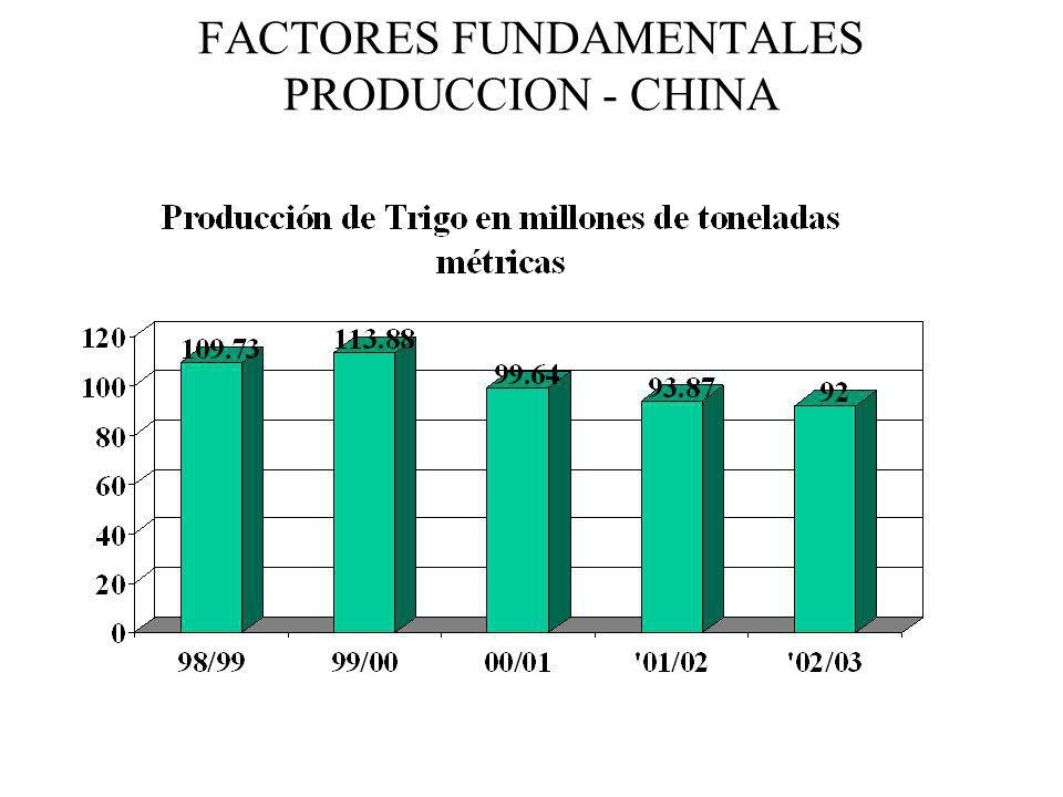 FACTORES FUNDAMENTALES PRODUCCION - CHINA