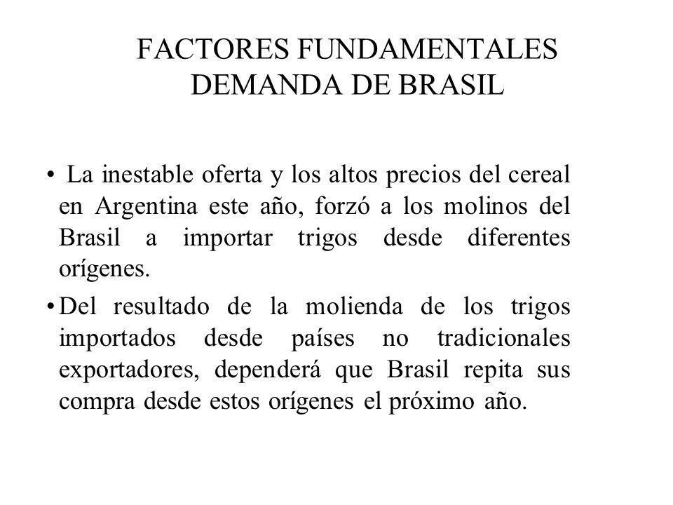 FACTORES FUNDAMENTALES DEMANDA DE BRASIL