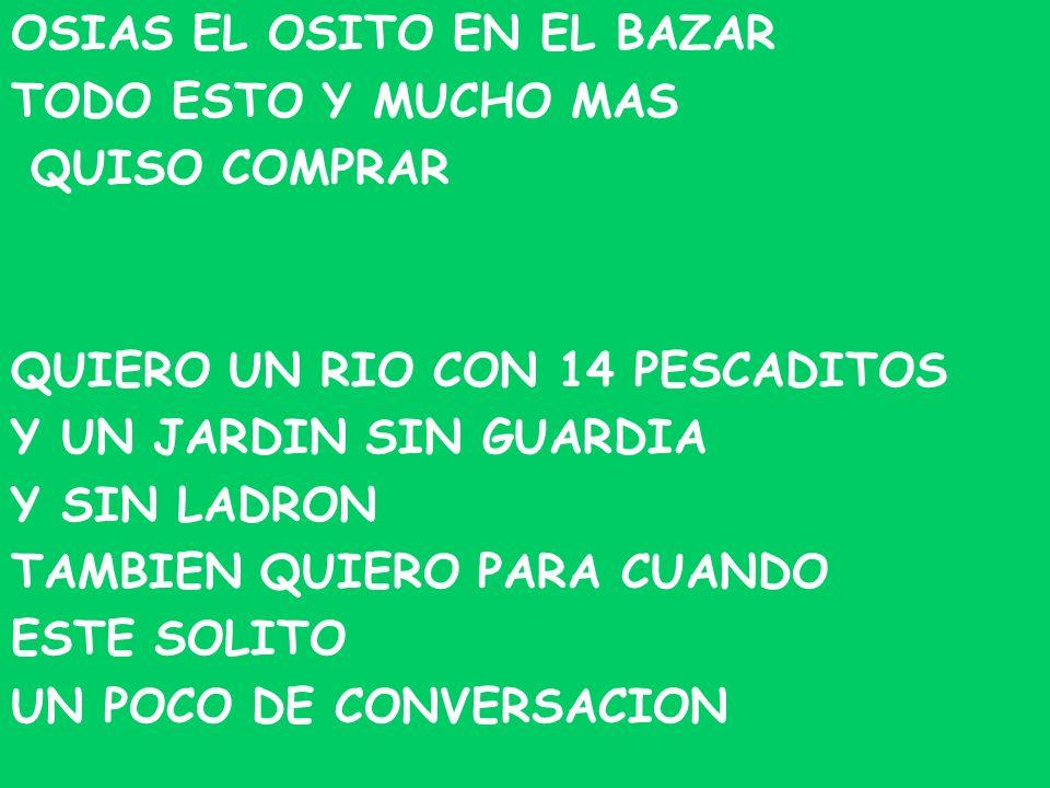 OSIAS EL OSITO EN EL BAZAR