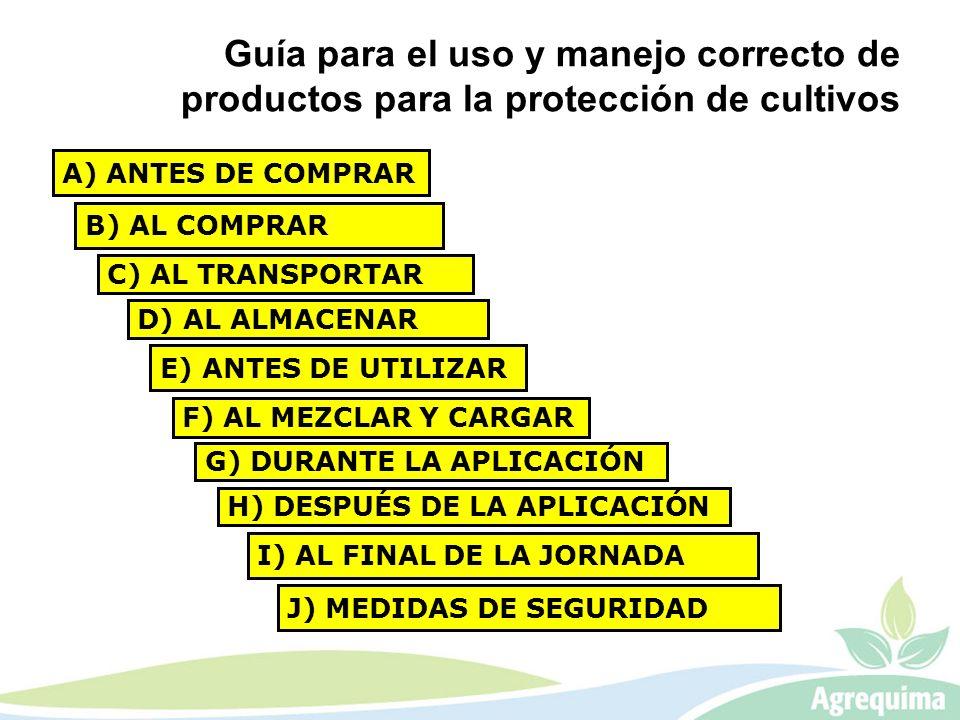 Guía para el uso y manejo correcto de productos para la protección de cultivos