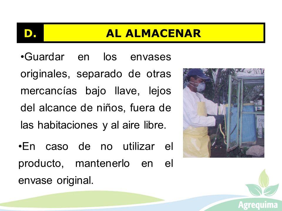 AL ALMACENAR D.