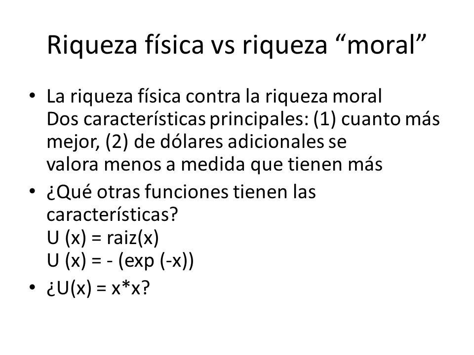 Riqueza física vs riqueza moral