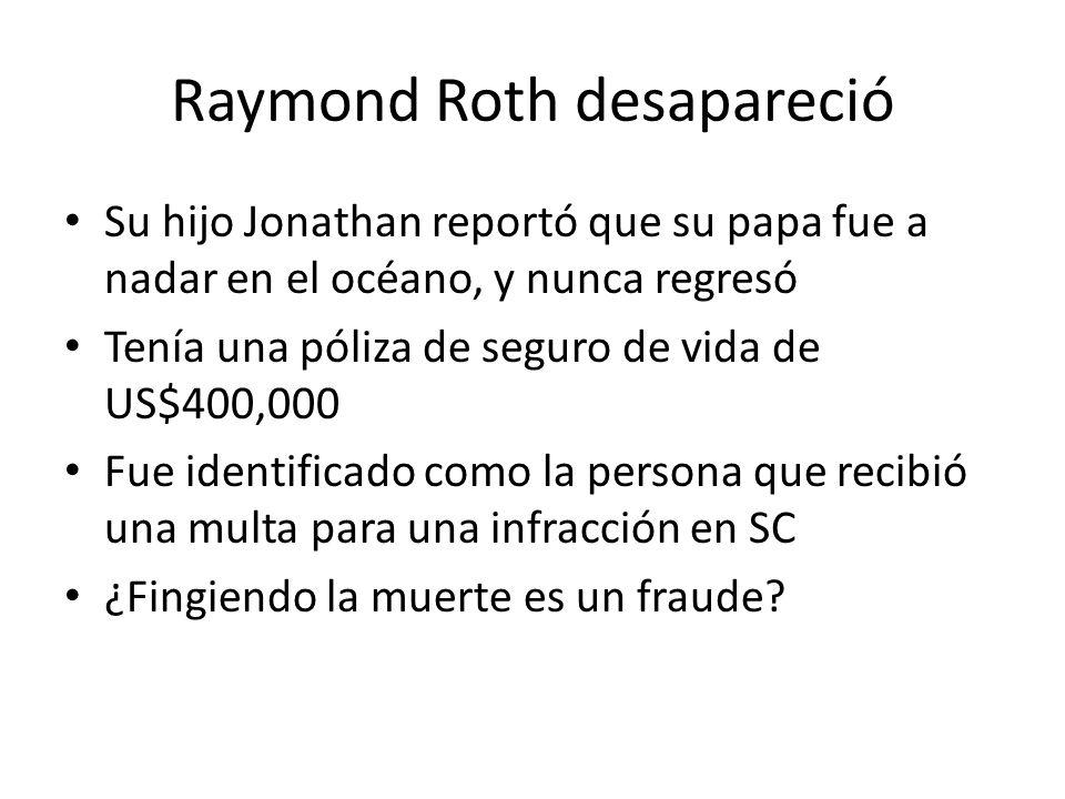 Raymond Roth desapareció