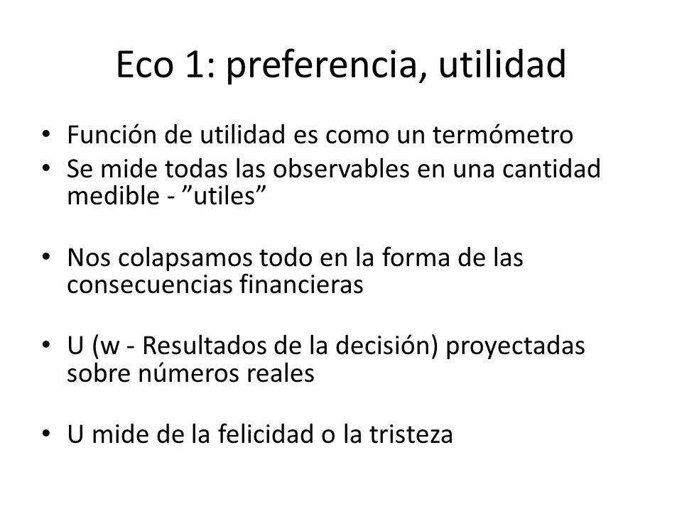 Eco 1: preferencia, utilidad
