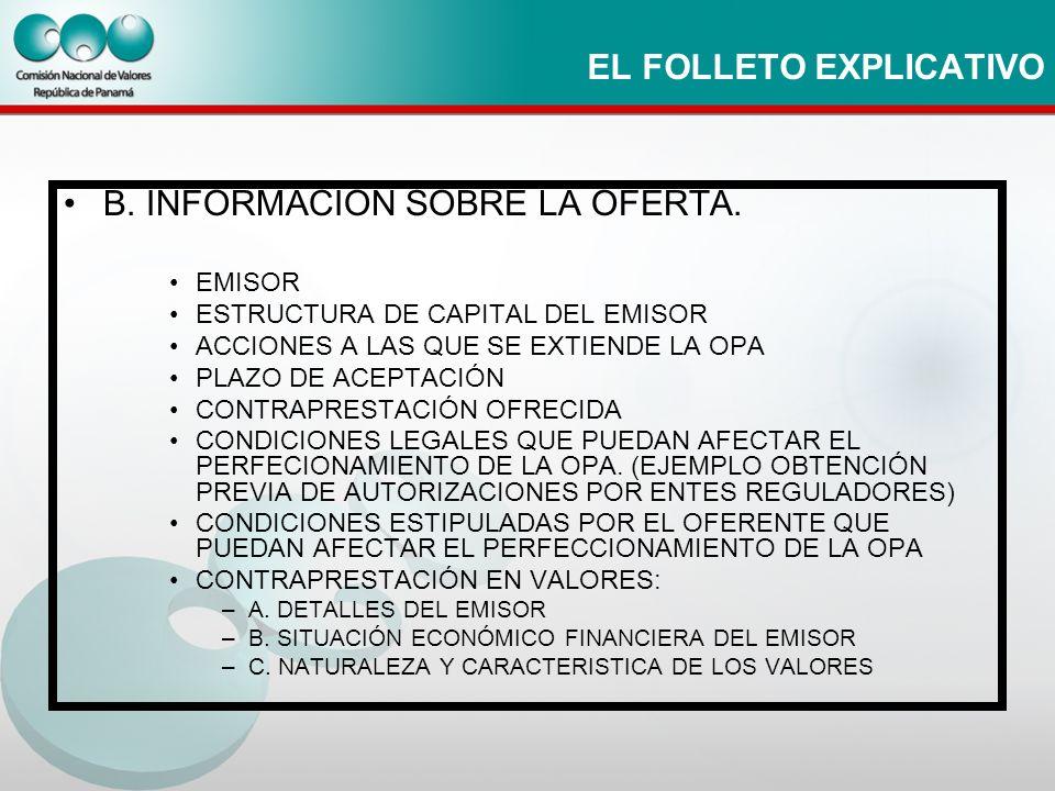 EL FOLLETO EXPLICATIVO