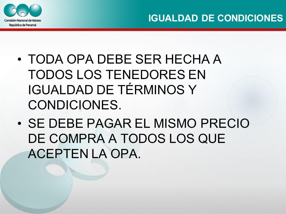 IGUALDAD DE CONDICIONES