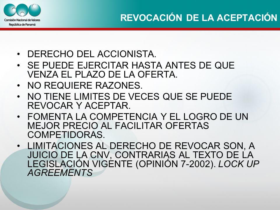REVOCACIÓN DE LA ACEPTACIÓN