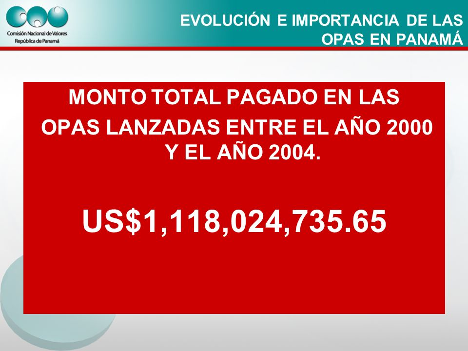 EVOLUCIÓN E IMPORTANCIA DE LAS OPAS EN PANAMÁ