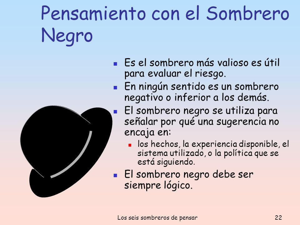 Pensamiento con el Sombrero Negro