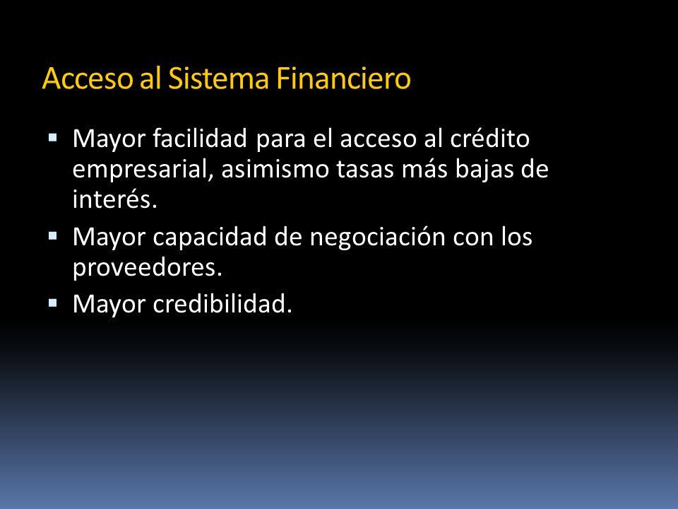 Acceso al Sistema Financiero