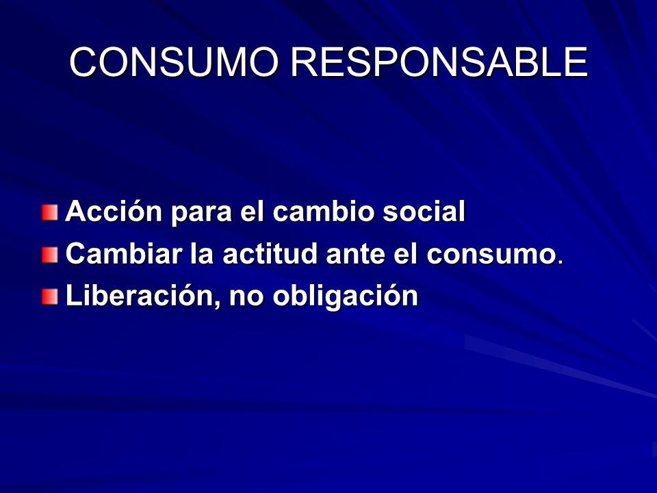 CONSUMO RESPONSABLE Acción para el cambio social