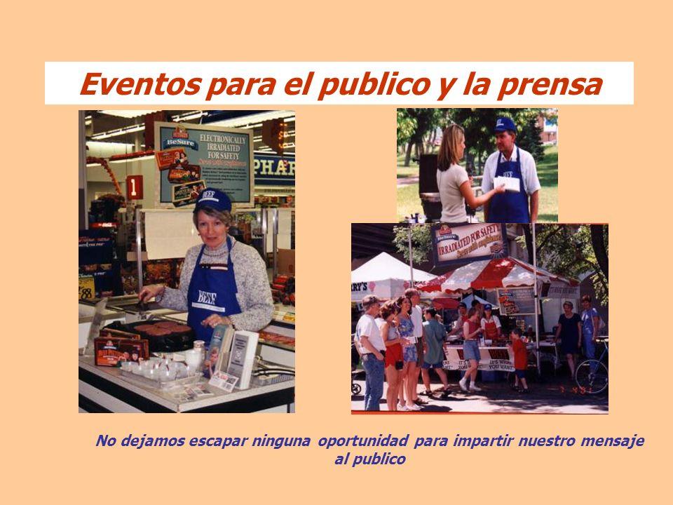 Eventos para el publico y la prensa