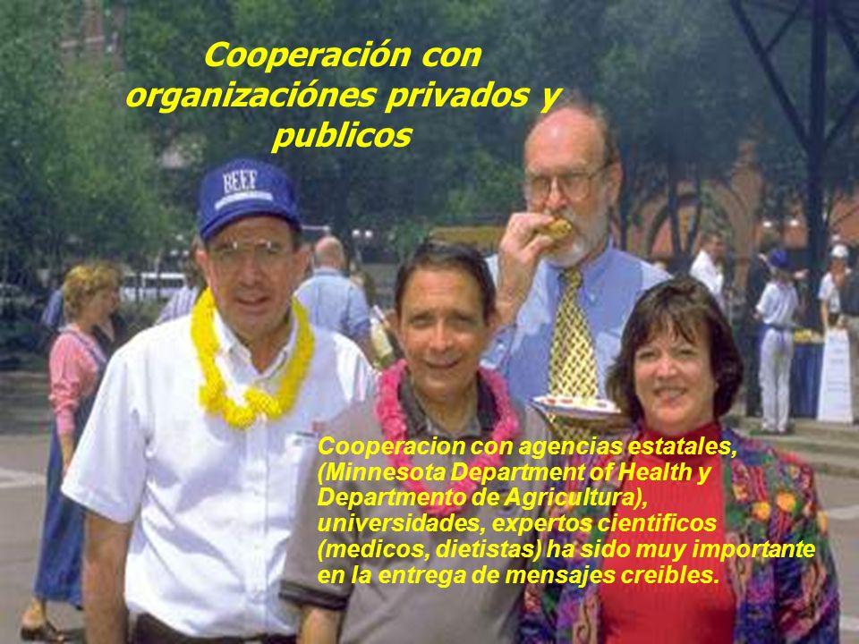 Cooperación con organizaciónes privados y publicos