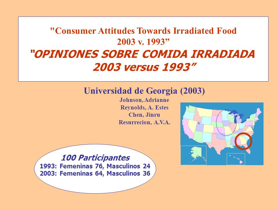 2003 versus 1993 Consumer Attitudes Towards Irradiated Food