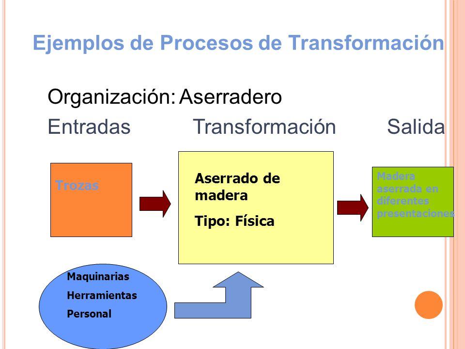 Ejemplos de Procesos de Transformación