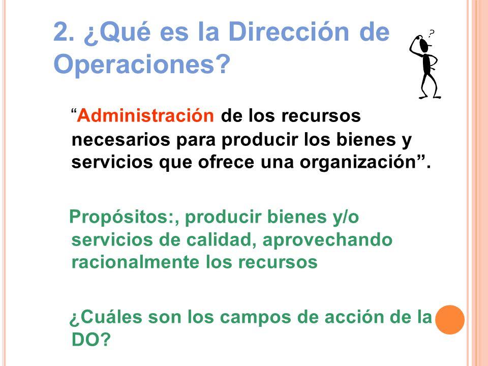 2. ¿Qué es la Dirección de Operaciones