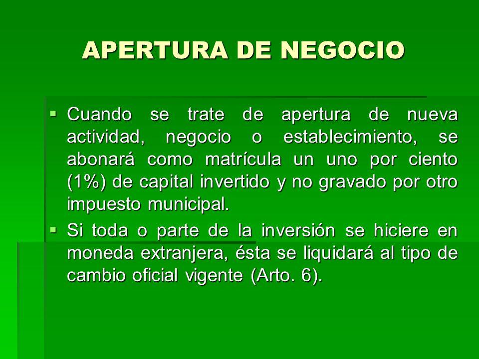 APERTURA DE NEGOCIO