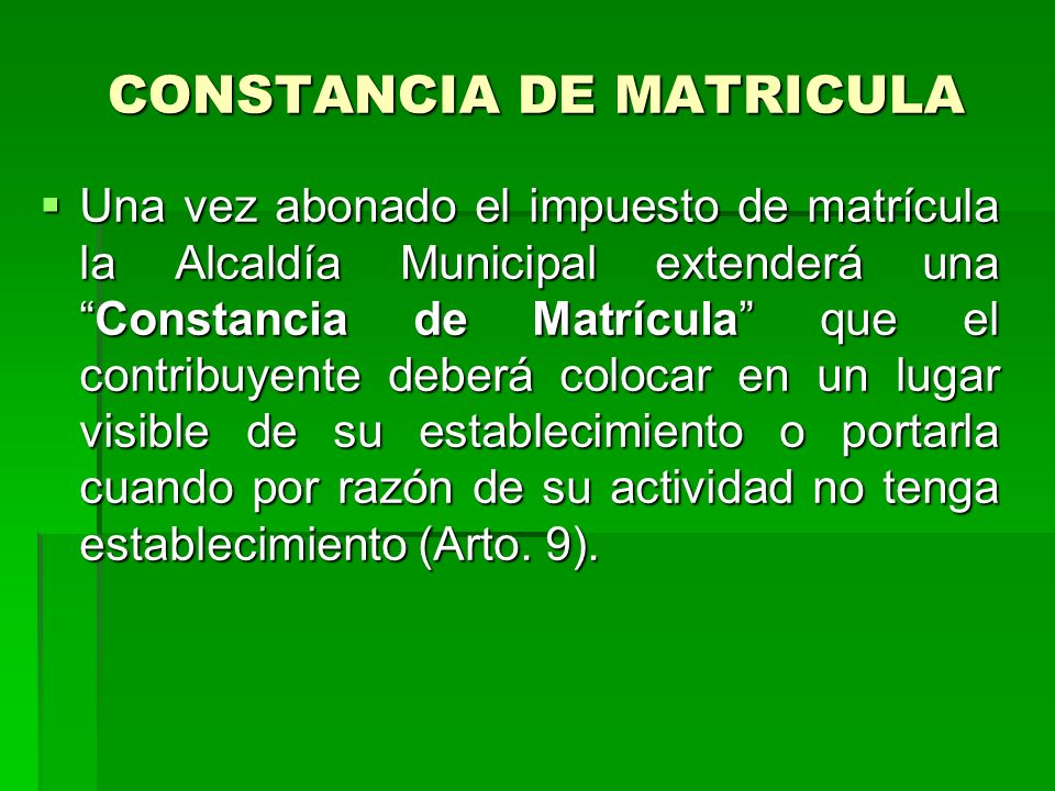 CONSTANCIA DE MATRICULA