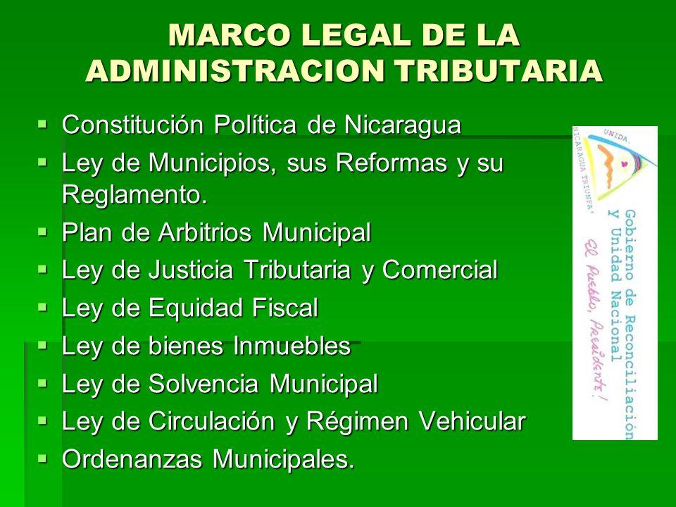 MARCO LEGAL DE LA ADMINISTRACION TRIBUTARIA