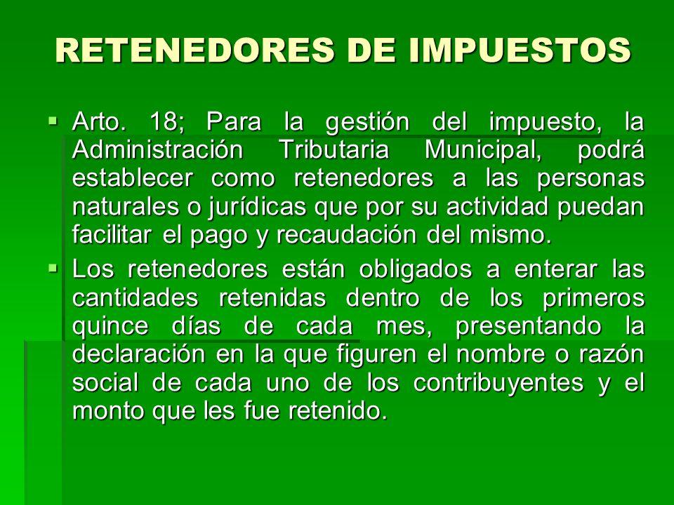 RETENEDORES DE IMPUESTOS