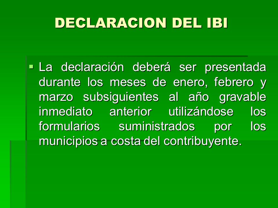 DECLARACION DEL IBI