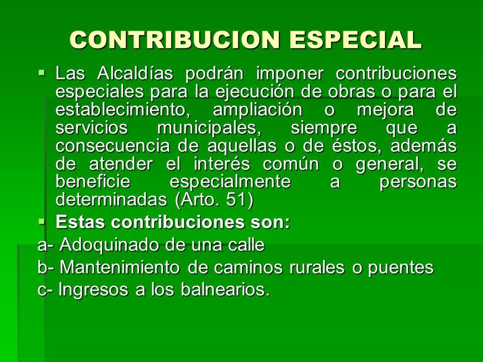 CONTRIBUCION ESPECIAL