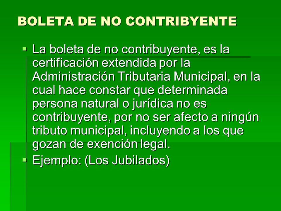 BOLETA DE NO CONTRIBYENTE
