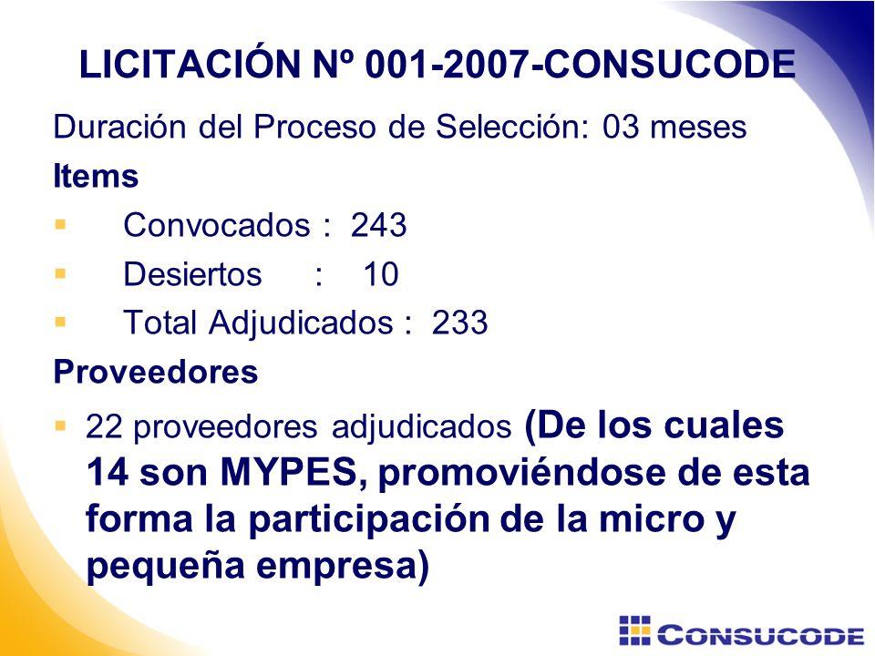 LICITACIÓN Nº 001-2007-CONSUCODE