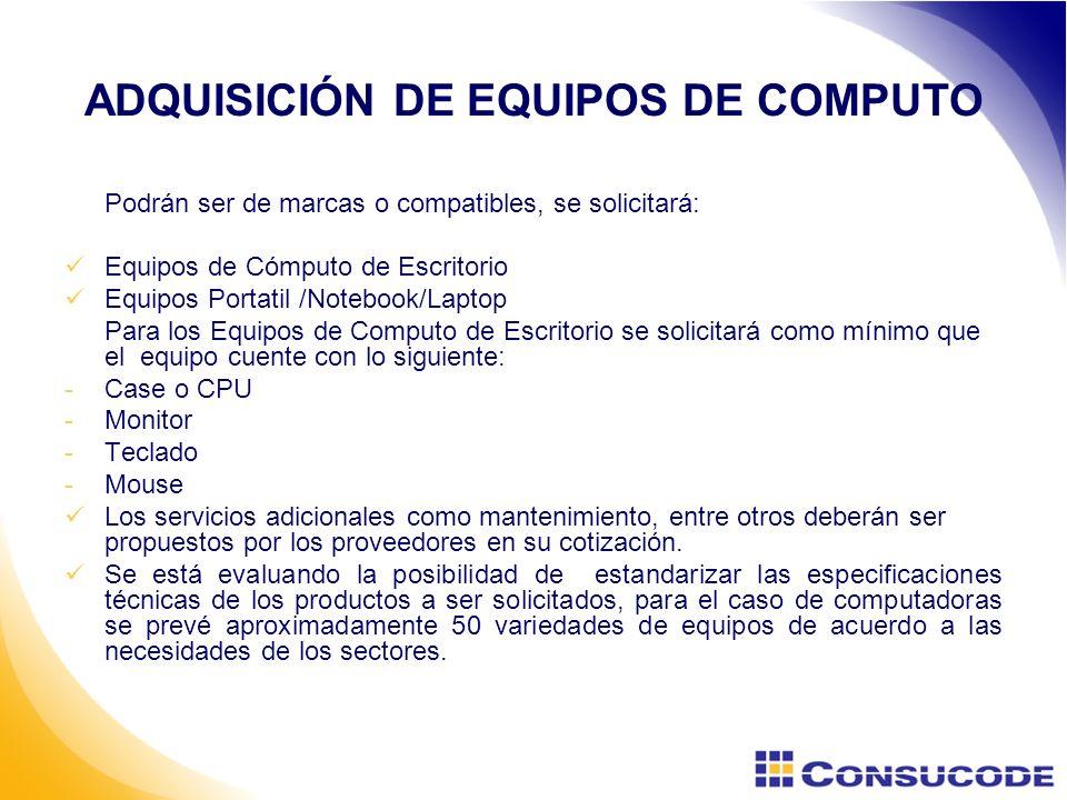 ADQUISICIÓN DE EQUIPOS DE COMPUTO