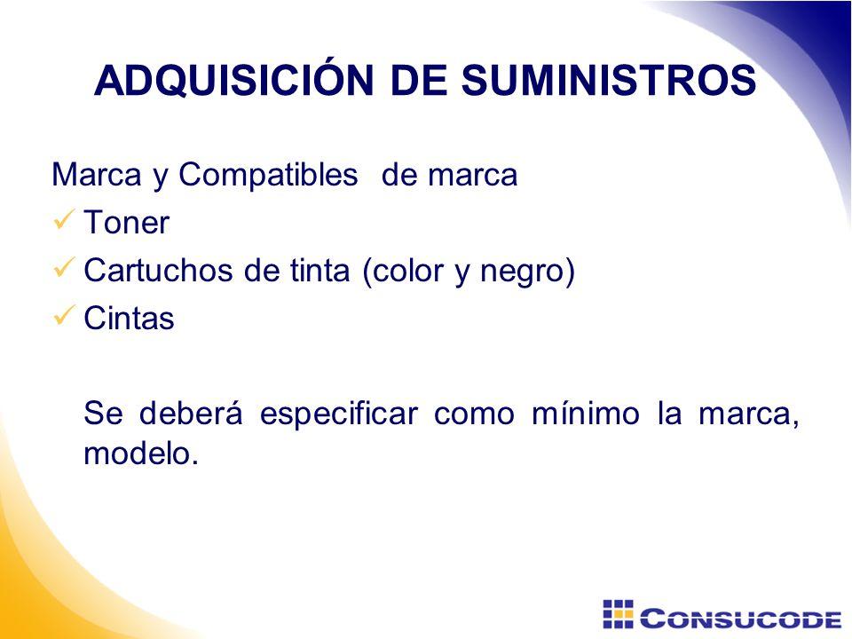 ADQUISICIÓN DE SUMINISTROS