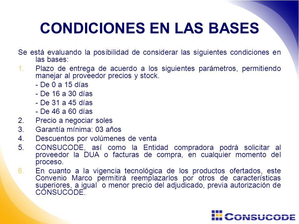 CONDICIONES EN LAS BASES