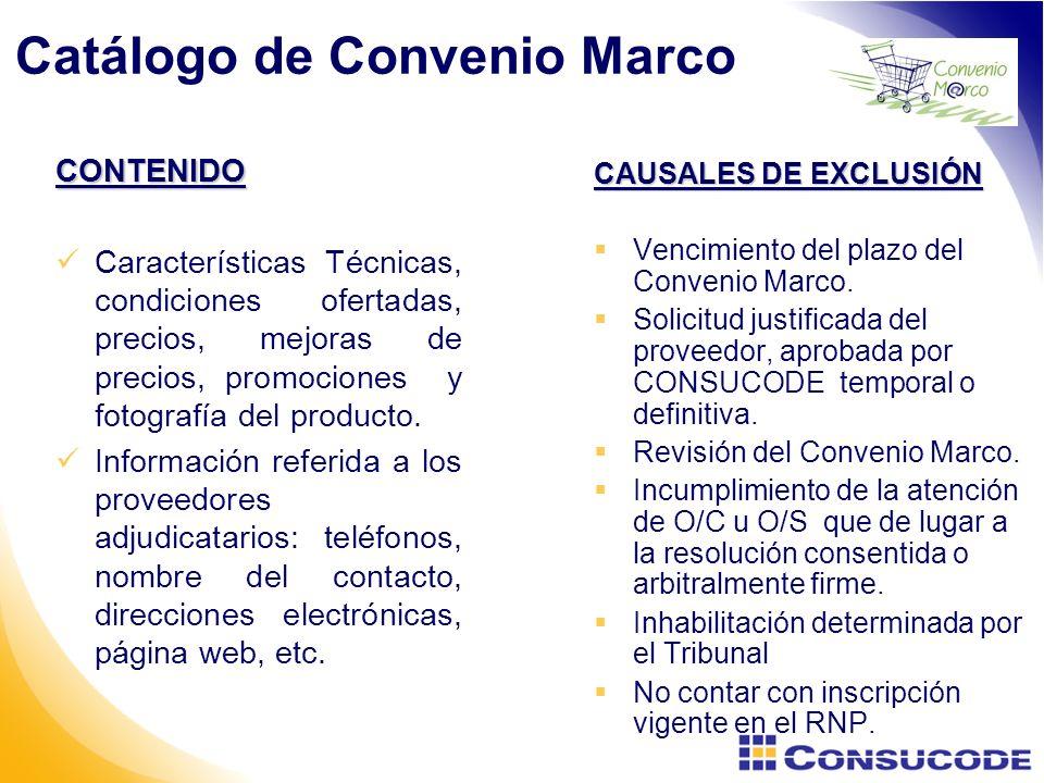 Catálogo de Convenio Marco