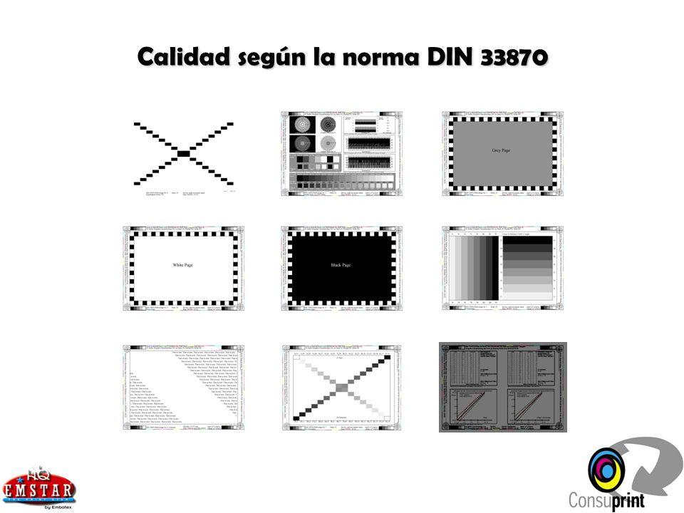 Calidad según la norma DIN 33870