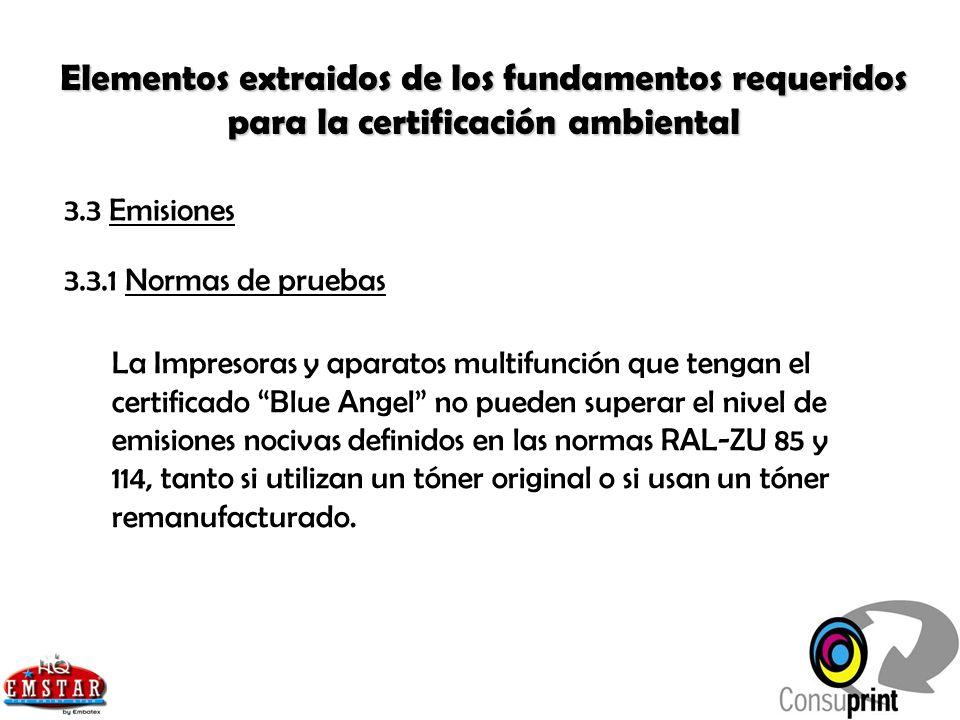 Elementos extraidos de los fundamentos requeridos para la certificación ambiental