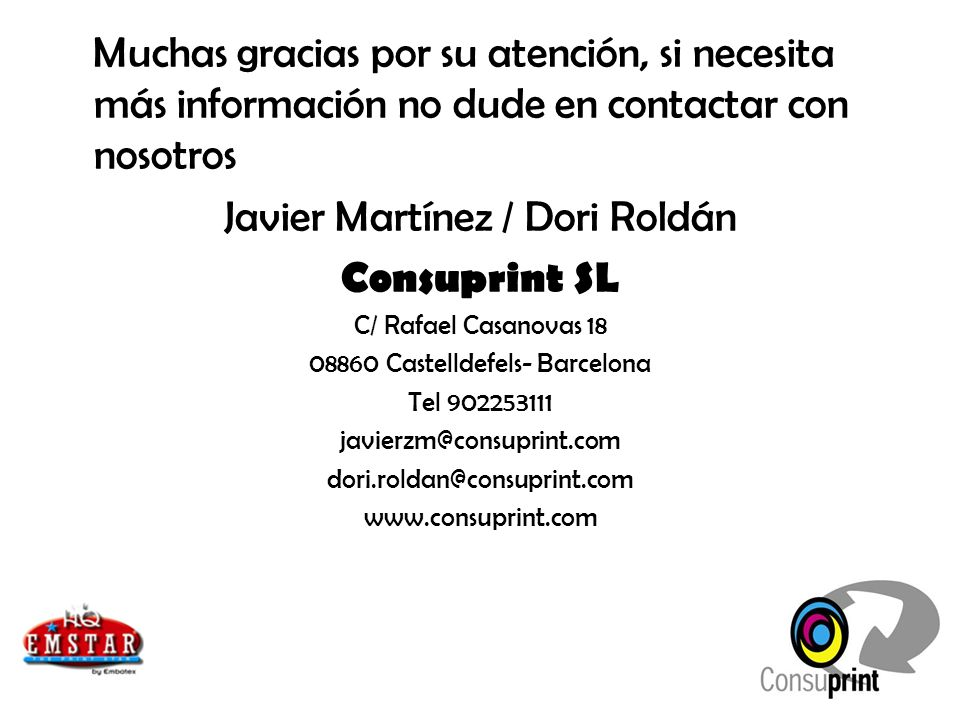 Javier Martínez / Dori Roldán Consuprint SL