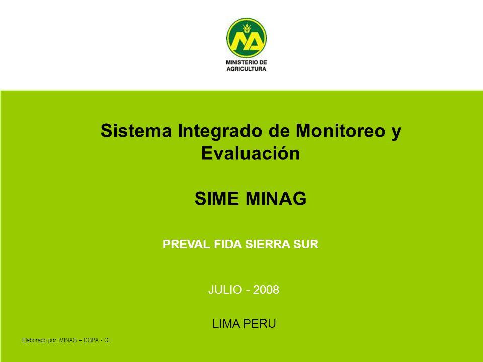 Sistema Integrado de Monitoreo y Evaluación