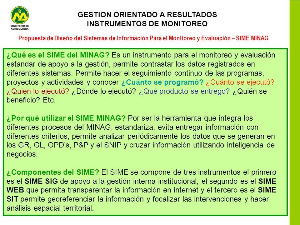 GESTION ORIENTADO A RESULTADOS INSTRUMENTOS DE MONITOREO